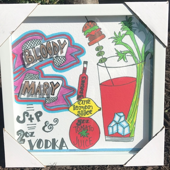 Other Bloody Mary Wall Decor Hanging Frame Poshmark